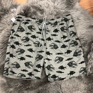 Kirkland Swim Shorts: Grey Fish (PM1058)